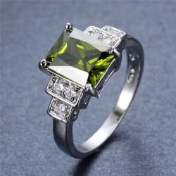 Inel Aneis - aur alb si cristale safire