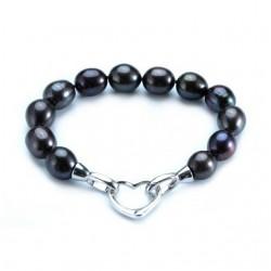 Bratara Heart of Pearls - argint si perle de cultura