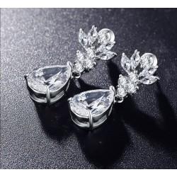 Cercei Chandelier M4 - platina si cristale Cubic Zirconia