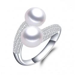 Inel Perle Model 1 - argint si perle de cultura