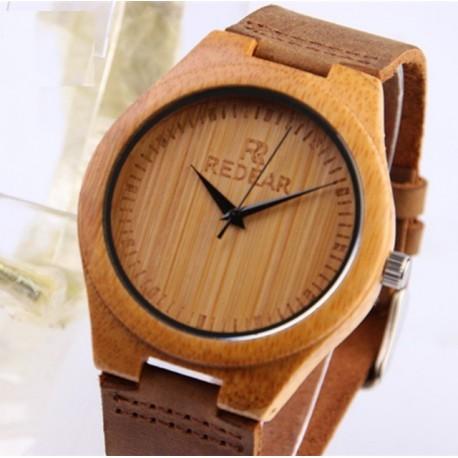 Ceas barbates  din lemn de bambus M8
