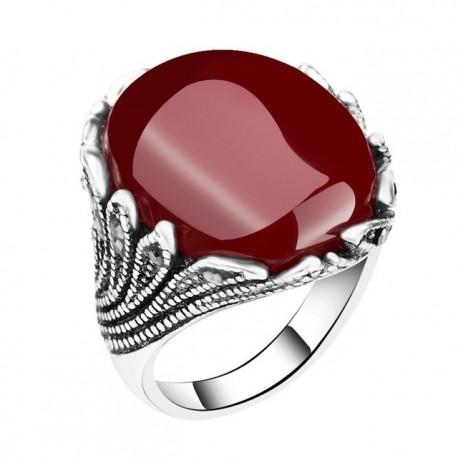 Inel Bohemian - argint si cristale
