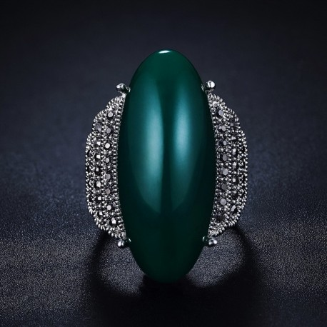 Inel Iutopian - argint si cristale