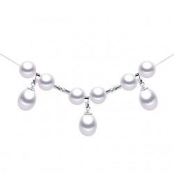 Lantisor Perle Model 3 - argint si perle de cultura