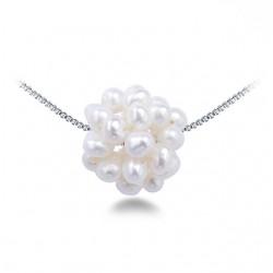 Lantisor Perle Model 7 - argint si perle de cultura