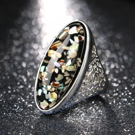 Inel Coral - argint tibetan si coral