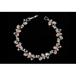 Bratara Grace - platinata si cristale Cubic Zirconia