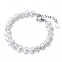 Bratara Love for Pearls - argint si perle de cultura