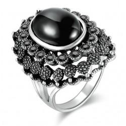 Inel Graceful - argint si cristale