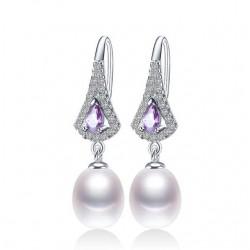 Cercei Perle Model 2 - argint si perle de cultura