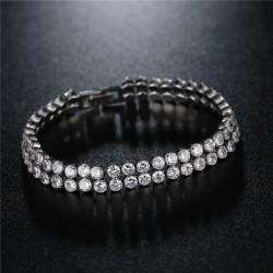 Bratara Cashine - aur 18k si cristale Cubic Zirconia