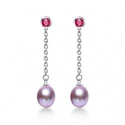 Cercei Perle Model 10 - argint si perle de cultura