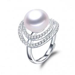Inel Perle Model 4 - argint si perle de cultura