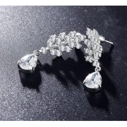 Cercei Chandelier M1 - platina si cristale Cubic Zirconia