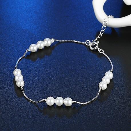 Bratara Pearl Heart - argint si perle de cultura