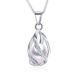 Lantisor Perle Model 8 - argint si perle de cultura