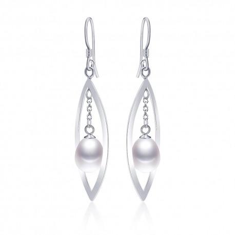 Cercei Perle Model 6 - argint si perle de cultura