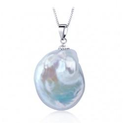 Pandantiv Perle Baroque - argint si perle de cultura