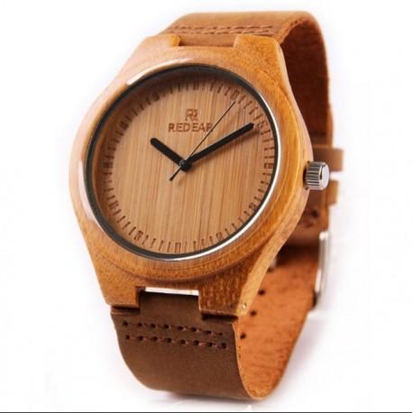 Ceas barbates  din lemn de bambus M6