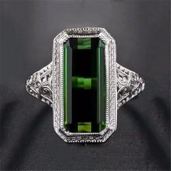 Inel Gloss - argint si cristale