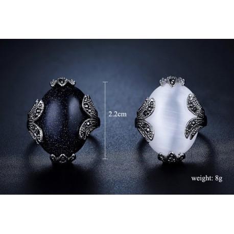 Inel Cosmic - argint si opal