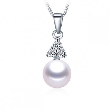 Lantisor Perle Model 6 - argint si perle de cultura