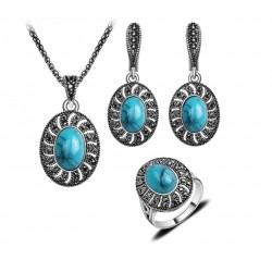 Set bijuterii Corrine - argint antichizat