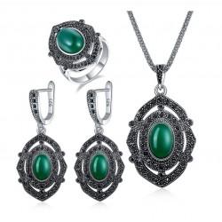 Set bijuterii Individuality - argint antichizat
