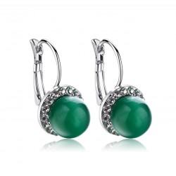 Cercei Trendy Green - argint si opal