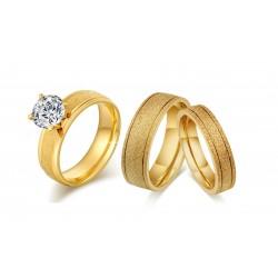 Set verighete si inel M3 - inox si cristale Cubic Zirconia