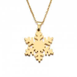 Lantisor inox Snow Flake