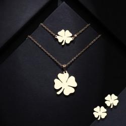 Set bijuterii Clover 2 - inox