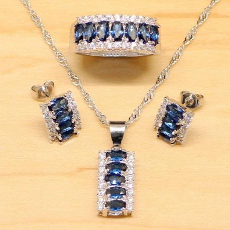 Set bijuterii Mystic - argint si topaz