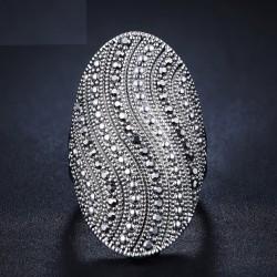 Inel Robin - argint si cristale