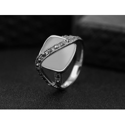 Inel Retro Opal - argint si cristale