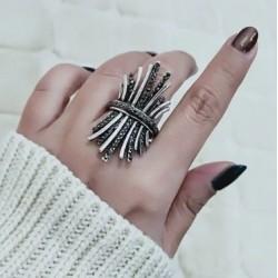Inel Wable - argint si cristale