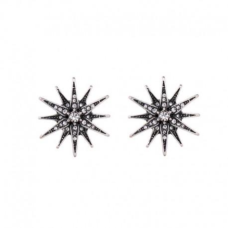 Cercei Star - argint si cristale