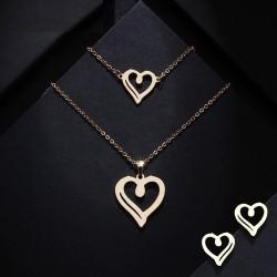 Set bijuterii Lover - inox