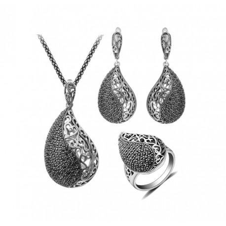 Set bijuterii Silver Teardrop