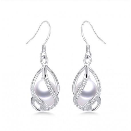 Cercei Perle Model 17 - argint si perle de cultura