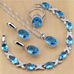 Set bijuterii Blue Sky