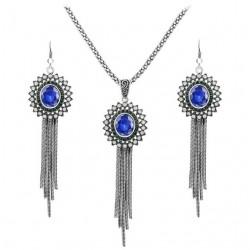 Set bijuterii Mirror - argint antichizat si cristale