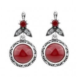 Cercei Bohemian - argint tibetan si cristale Austrian